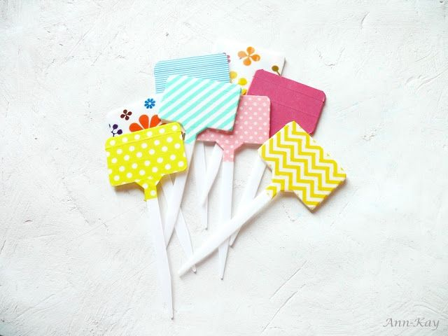 Ann-Kay Home: DIY: Washi Tape Plant Markers