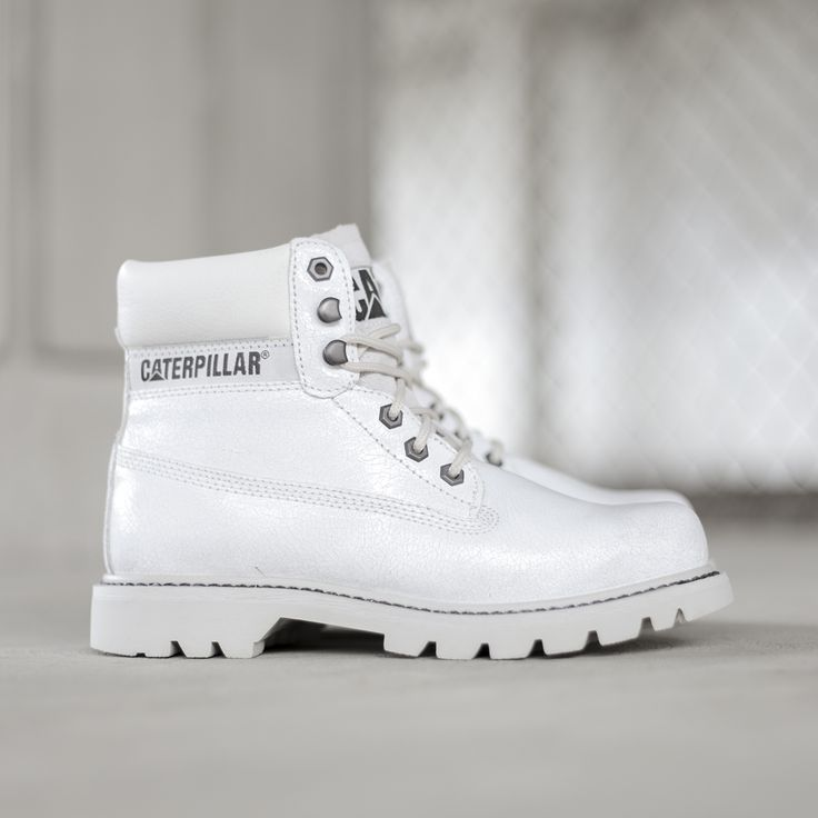 We can see an all white outfit coming on with these White on White work boot style Caterpillars! http://www.shoeconnection.co.nz/products/CTWBSS5L1WA
