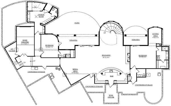 34 best floorplans images on pinterest house blueprints for Mediterranean house plans with basement
