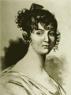 Мать Александра Сергеевича Пушкина - Надежда Осиповна. Миниатюра Ксавье де Местра. 1810 год.