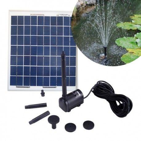 Pompe solaire pour bassins et fontaines - 200 litres par heure - alimentée par panneau solaire