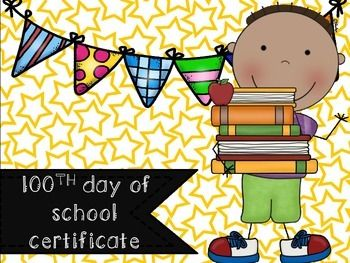 100th day of school certificate: Congratulations! You are 100 days smarter!   Thanks for downloading!  Please leave feedback and earn your TpT credits! Lyndsey