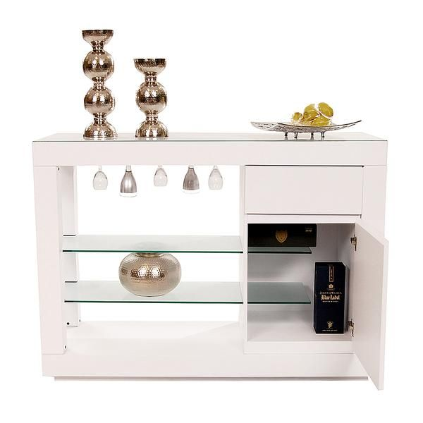 El Dorado Furniture Slide White 59 Buffet BuffetsDining RoomGold