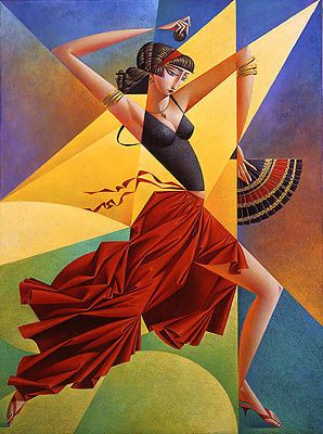 "Georgy Kurasov (Russian, born 1958) ""Flamenco"""