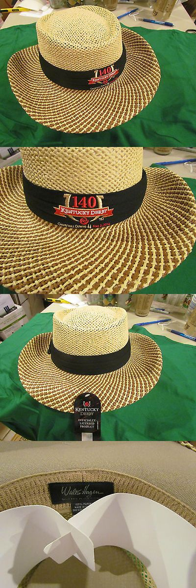 Horse Racing 429: 2014 Kentucky Derby 140 Offical Headwear Straw Golf Gambler Style -> BUY IT NOW ONLY: $30 on eBay!