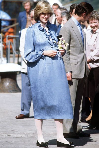 Lady Diana enceinte de 3 mois en janvier 1982