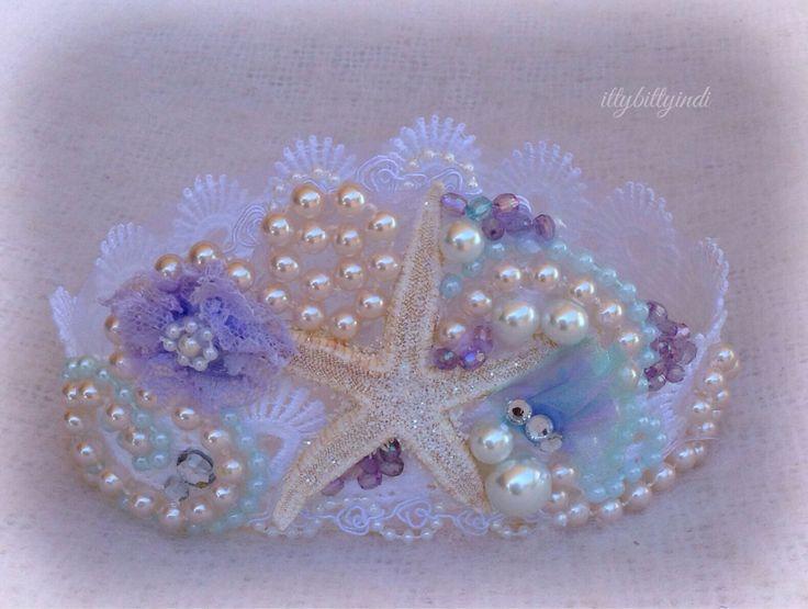 Sirène Couronne océan rêveur étoile de mer perles fait main