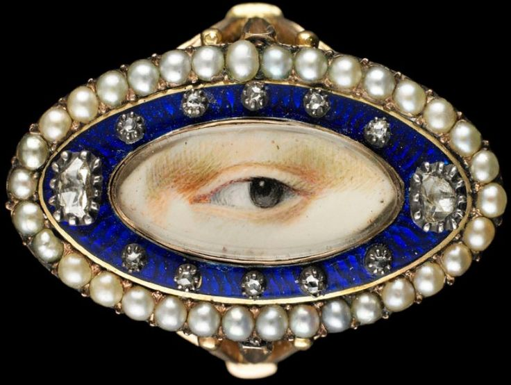 Gasp! I need to dash down to Birmingham and see this exhibit on 'lovers eye' jewelry