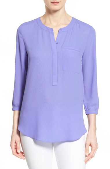 NYDJ Henley Blouse (Regular & Petite) available at #Nordstrom