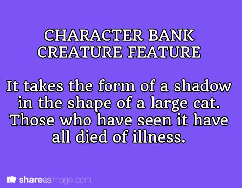 character bank creature feature!