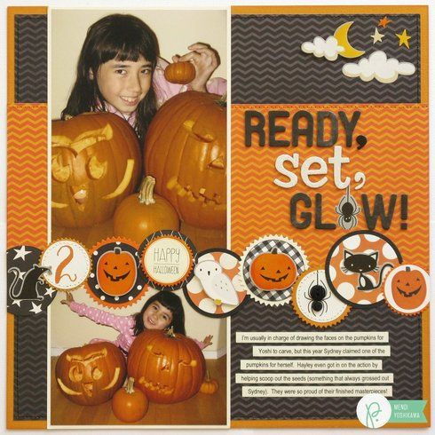 Pebbles Inc. Thirty-One Halloween Layout by Mendi Yoshikawa : Gallery : A Cherry On Top