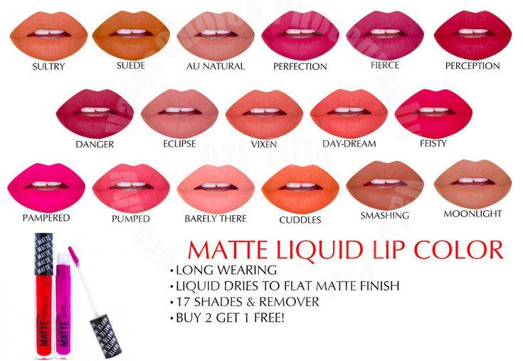 LA COLORS LIP MATTE LIQUID LIPSTICK COUTURE WATERPROOF CHOOSE 18 COLORS COSMETIC #LACOLORS