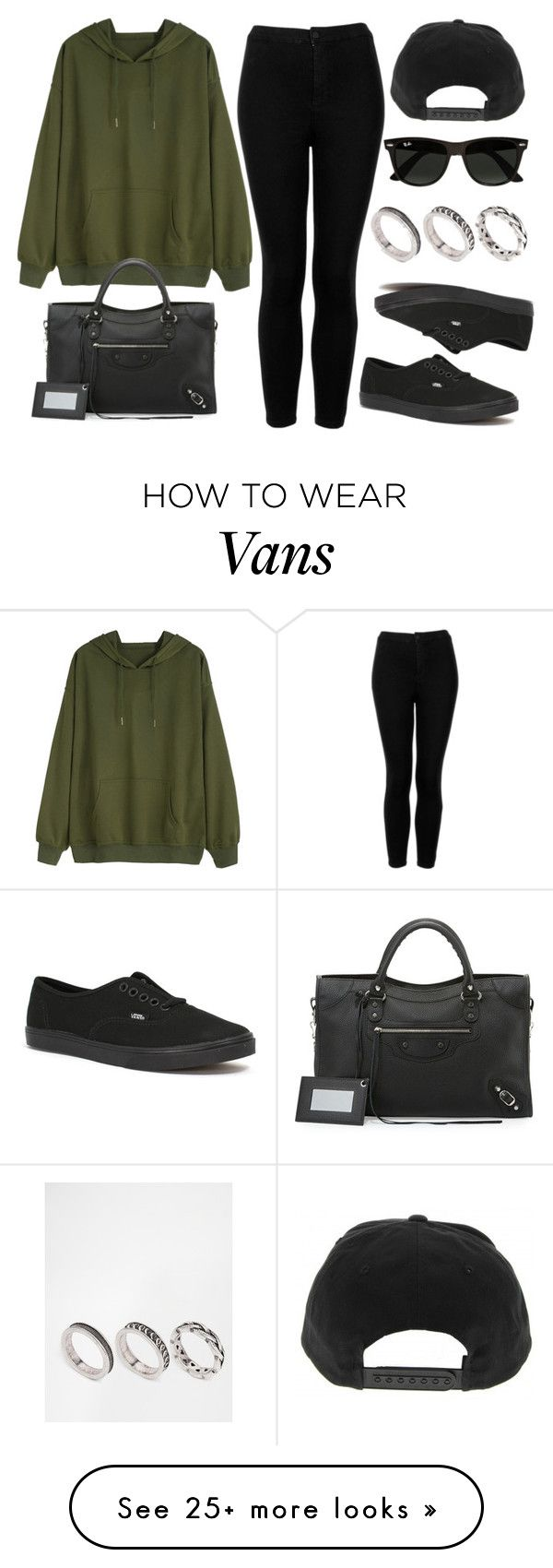 """Style #11362"" by vany-alvarado on Polyvore featuring Topshop, Vans, Balenciaga, Ray-Ban and ASOS"
