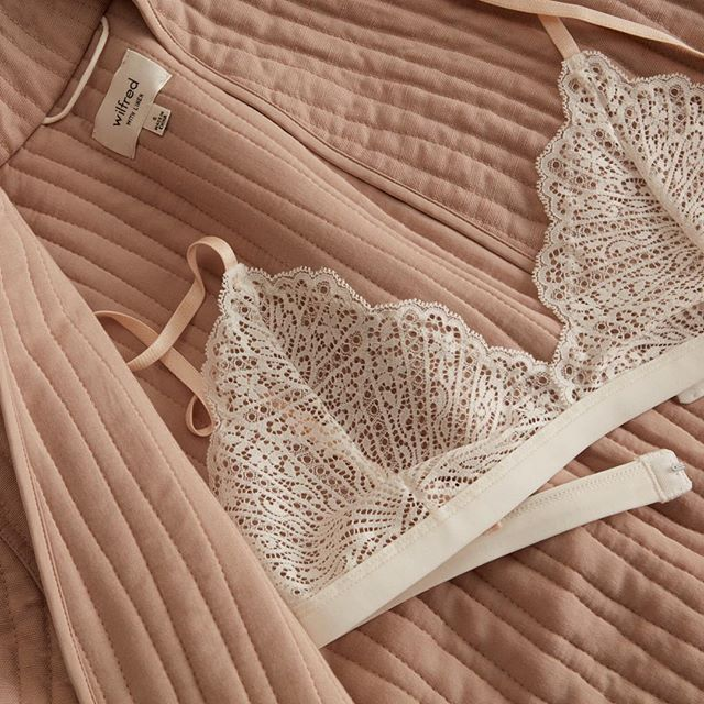 Feel good from the first layer out. Lace bralettes, available at @aritzia