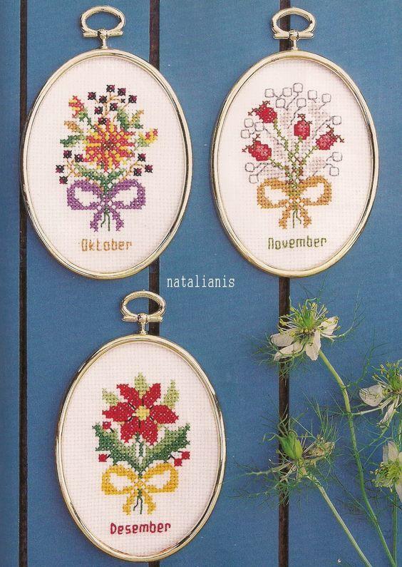 Всем, кто вяжет, дарю старые идеи для новых работ - Цветы\миниатюра\вышивка ............................