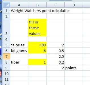 How to Make a Weight Watchers Points Calculator with Excel thumbnail