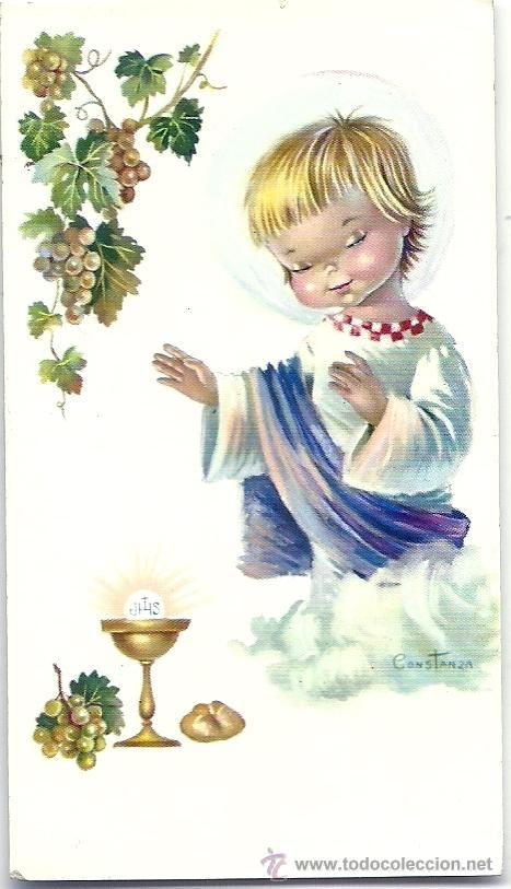 P067 - CONSTANZA - PRECIOSO RECORDATORIO RELIGIOSO - MIDE 5,5X18 - EDICIONES CYZ 5009.8 (Postales - Religiosas y Recordatorios)