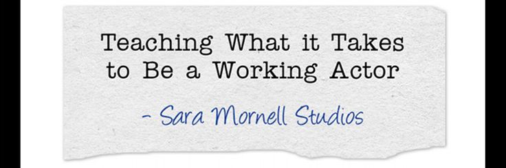 The Acting Coach that Working Actors use. http://www.saramornell.com https://twitter.com/Saramornell