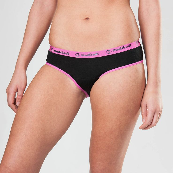 Active Brief Underwear Black with Pink Trim
