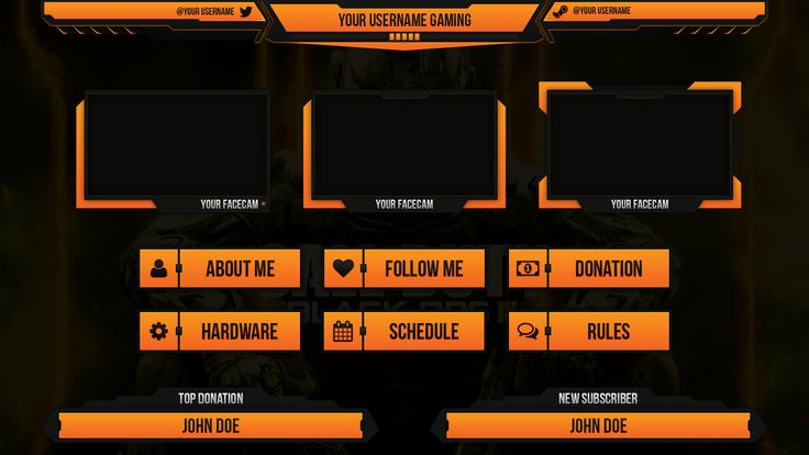 twitch layout template - custom twitch overlay twitch overlay pinterest