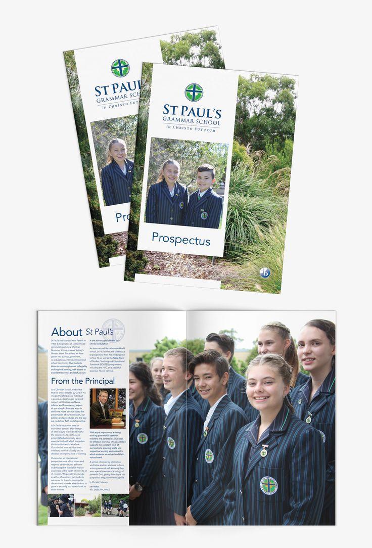 St Paul's Grammar School Prospectus – Design + layout + print production