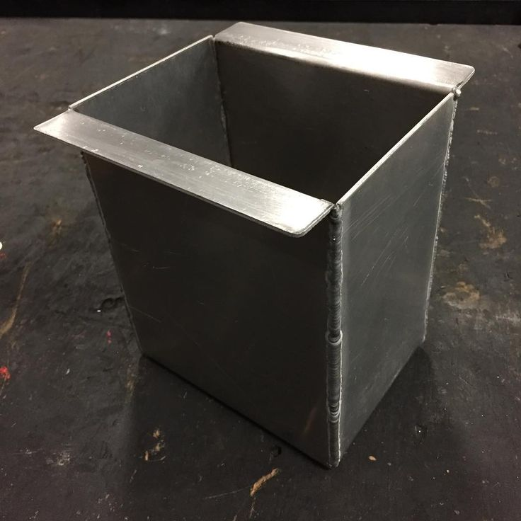 I made a box at work the other day. Its an oil drip tray for an oil bucket storage rack. Im pretty sure this is the first bent and welded aluminum box Ive ever done. #fabrication #fab #metalfab #metalbox #aluminum #aluminumbox #tig #tigwelding #millerwelders #industrialmaintenance #welding #fabricator #imtheweldernow