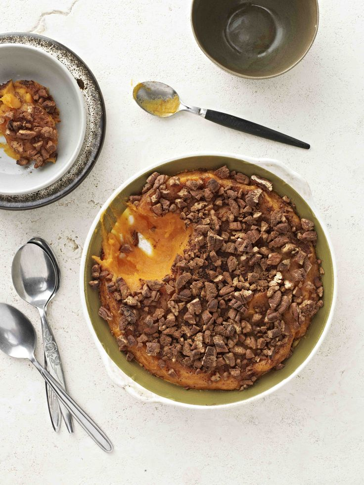 Sweet Potato Casserole  This recipe uses a number of other I Quit Sugar recipes, including Pumpkin andSweet Potato Puree, Homemade Almond Milk and Activated Nuts. This casserole