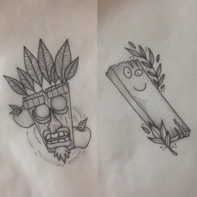 17 best images about games on pinterest tattoo ideas for Aku aku tattoo