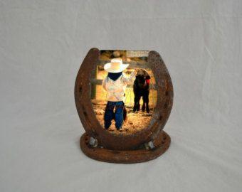 Horseshoe Picture Frame Horseshoe Decor by LuckyShoeCreation