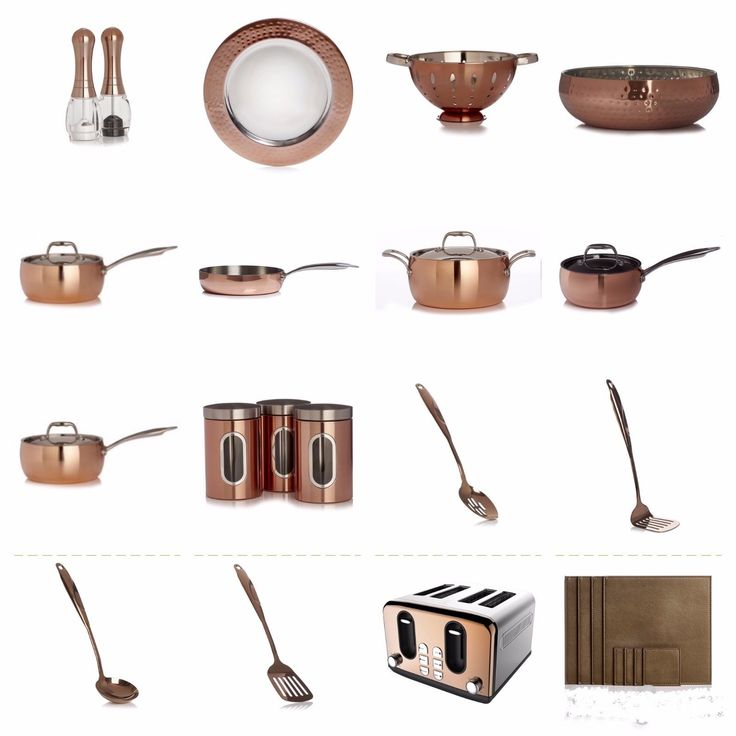 COPPER EFFECT KITCHEN COOKING WARE SETS, PANS, POTS, SAUCEPAN, SPOON, PLACEMAT in Home, Furniture & DIY, Cookware, Dining & Bar, Pots & Pans | eBay