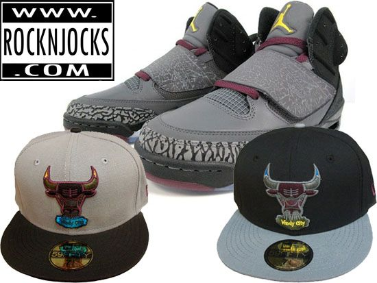 b5ad71abc88abd Custom NEW ERA x NBA Bulls 59Fifty Caps to match Son of Mars Jordan  Bordeaux Kicks