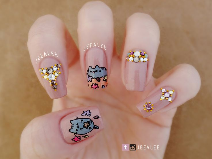 9 best pusheen images on pinterest nail arts nail designs and pusheen nails prinsesfo Images