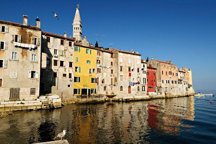 #Croatie - Façades en vieille ville de #Rovinj #Croatia #Hrvatska