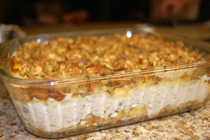 Have a lot of Turkey/stuffing left over? This is a delicious and easy casserole using your Thanksgiving left overs! YUM! The Jones Way...: Chicken and Stuffing Supreme.