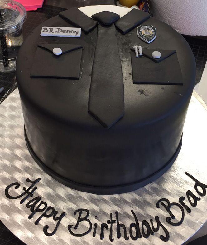 Police inspired birthday cake - Cake #032.