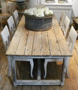 french pine farmhouse table, every café needs a table like this...right ?