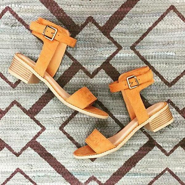 Whiskey Tan Ankle Strap Sandals