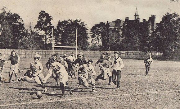 """""""Many believe that rugby was born in 1823 when William Webb Ellis """"with fine disregard for the rules of football (note that football was yet to split into the various codes) as played in his time at Rugby school, first took the ball in his arms and ran with it, thus originating the distinctive feature of the Rugby game"""".  Although this is in fact apocryphal, since there is little in the way of evidence to substantiate this view, it is however the popular view. So much so in fact that the…"""