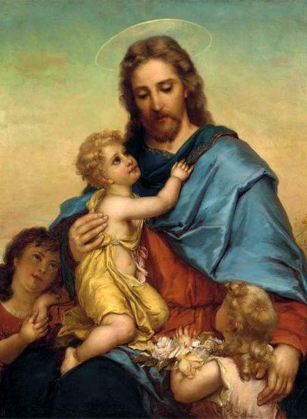Jesus with little children