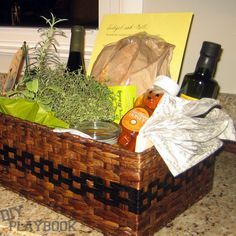 Basket o' Blessings for New Homeowners.  Easy and creative gift that can be tweaked for any occasion!
