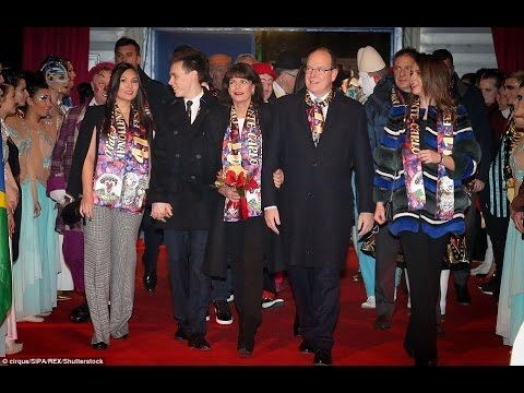 Prince Albert and Princess Stephanie attended 41th International Circus ...
