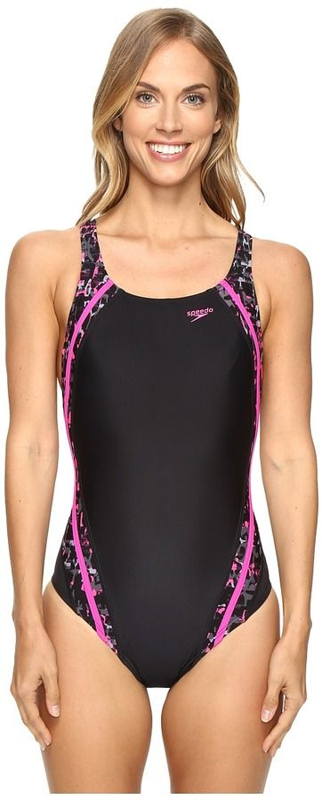Speedo Print Quantum Splice One-Piece
