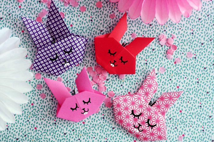 Fais le toi meme : des lapins en origami – Fais le toi même