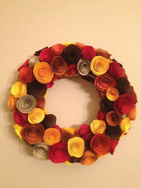 Rolled Paper Flower Wreath Flowers Can Be Made With Old Books