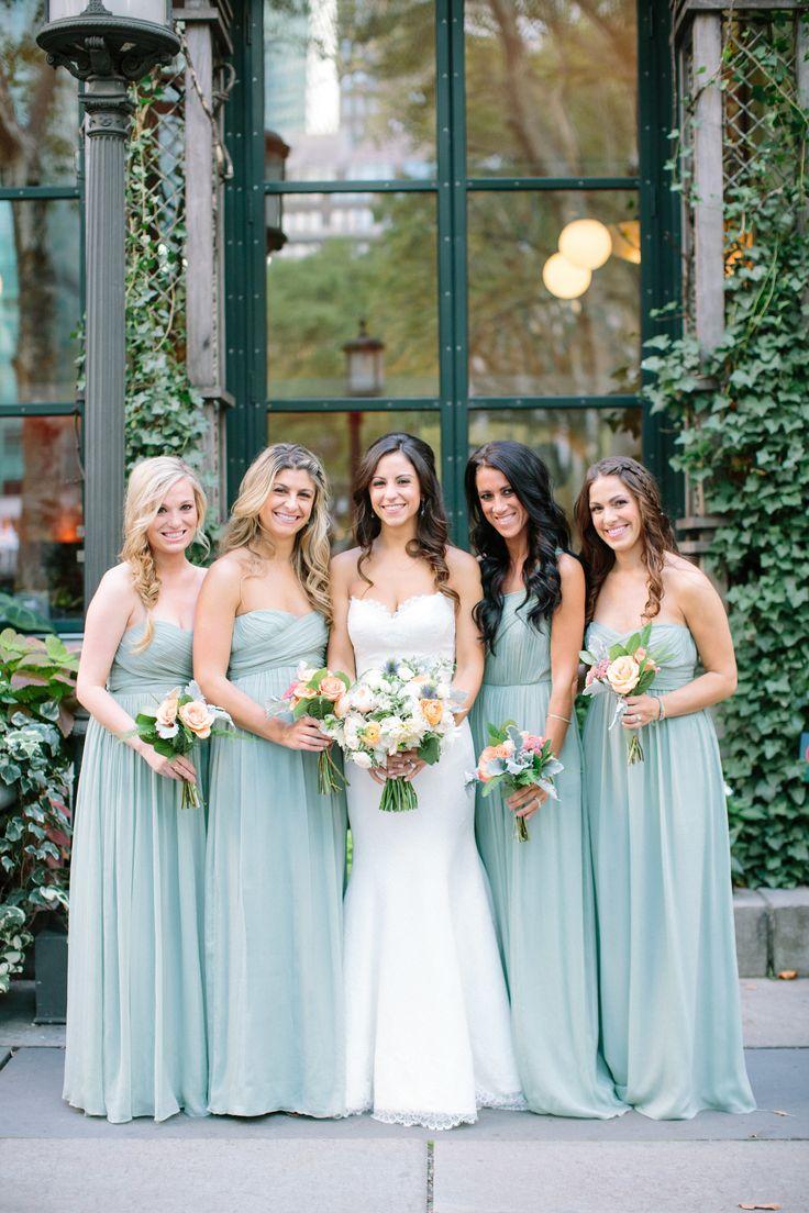 70 best wedding bridesmaids images on pinterest wedding nyc summer garden wedding in bryant park mint bridesmaid dresseswedding ombrellifo Image collections