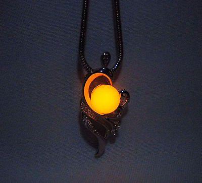 Phoenix Necklace - Glow in the Dark Phoenix - Phoenix Jewelry - Final Fantasy