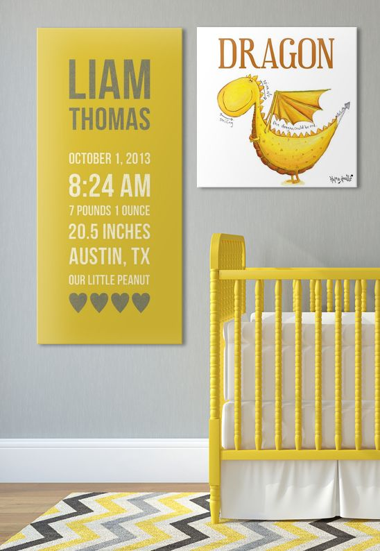 LOVE this for a #nursery! I'm loving the dragons and the #canvas I can customize for my little boy!