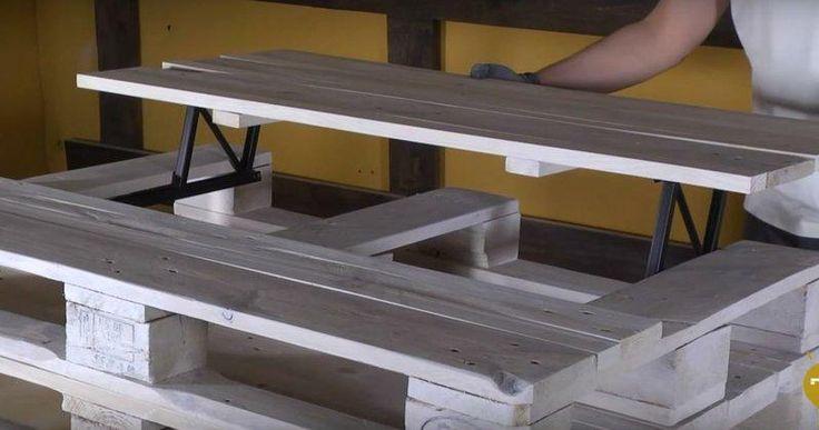 Cómo hacer una mesa elevable con dos palets