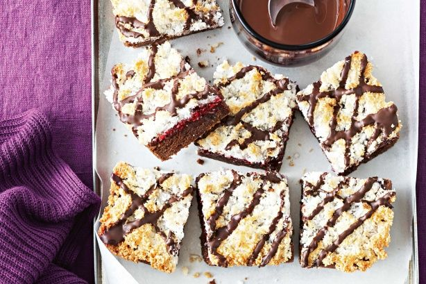 Give the classic Aussie lamington a modern makeover in this more-ish slice.