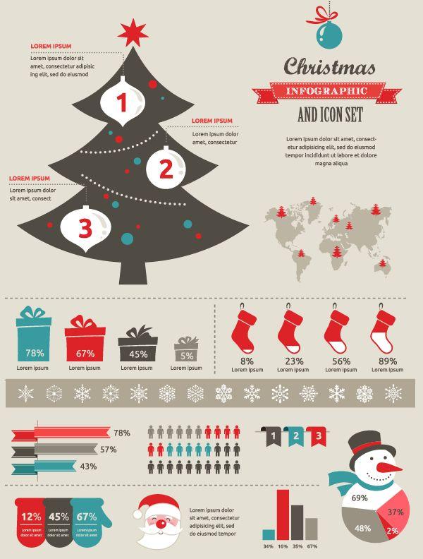 christmas infographic elements #freebie #christmas